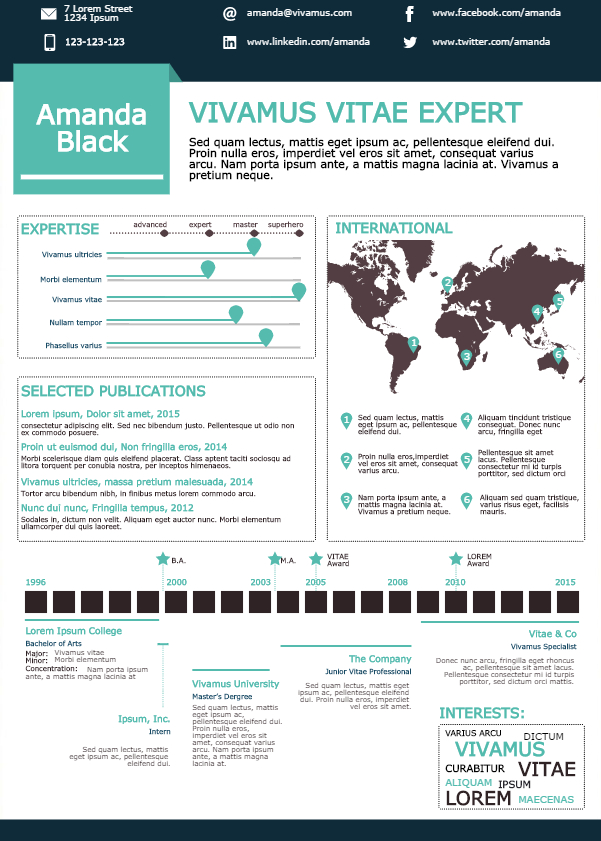 How to Turn Your CV into an Infographic - Create Amazing ...
