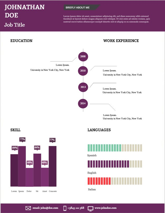 visual and vibrant your new cv simple infographic maker tool by