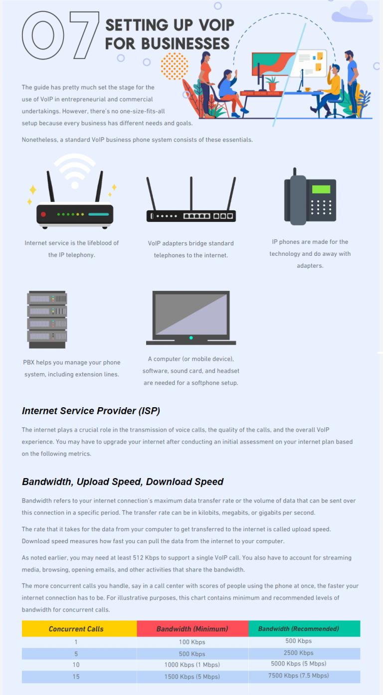 VOIP business infographic