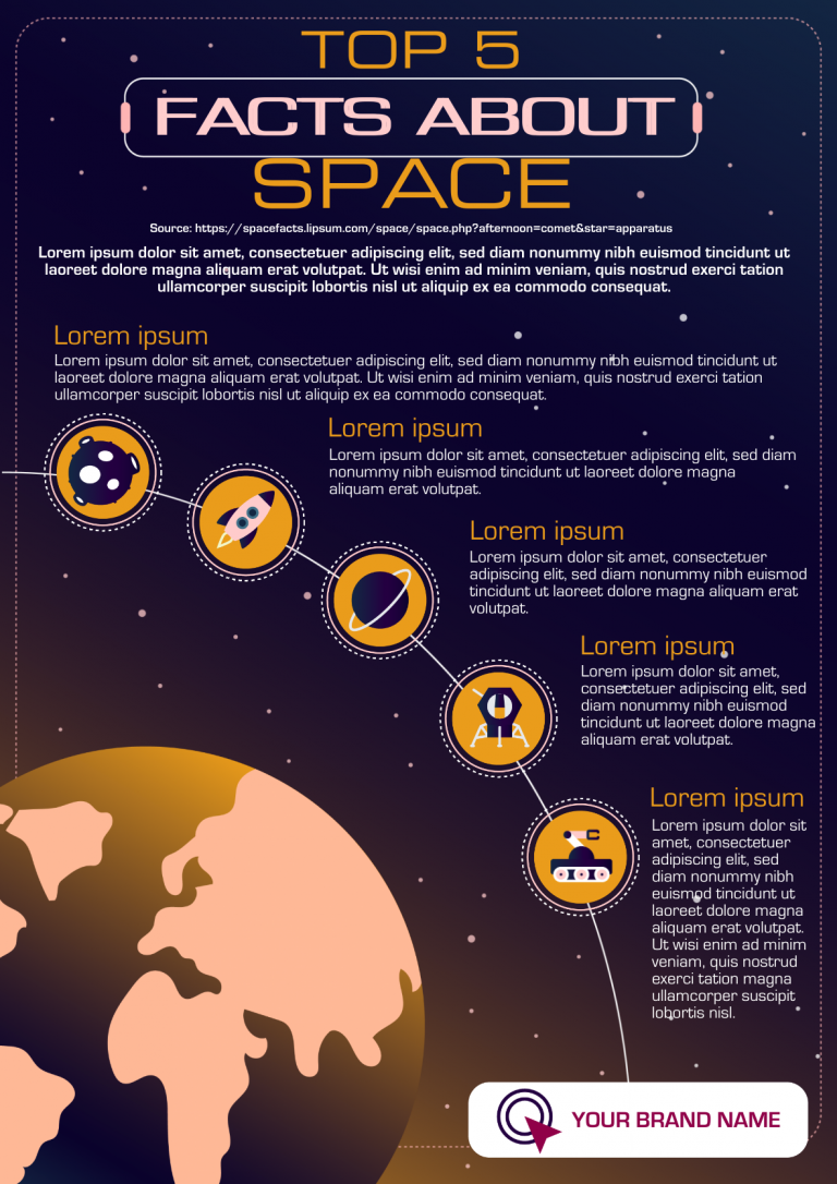 science infographic template in dark mode