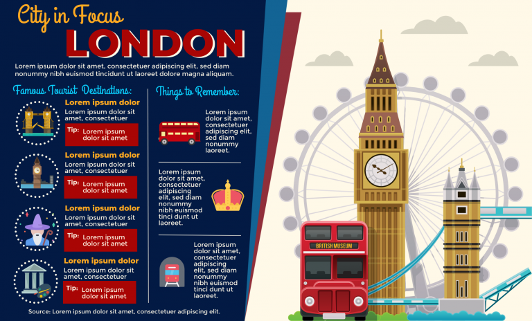 London infographic template