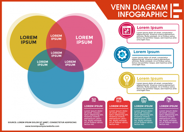 venn diagram infographic template