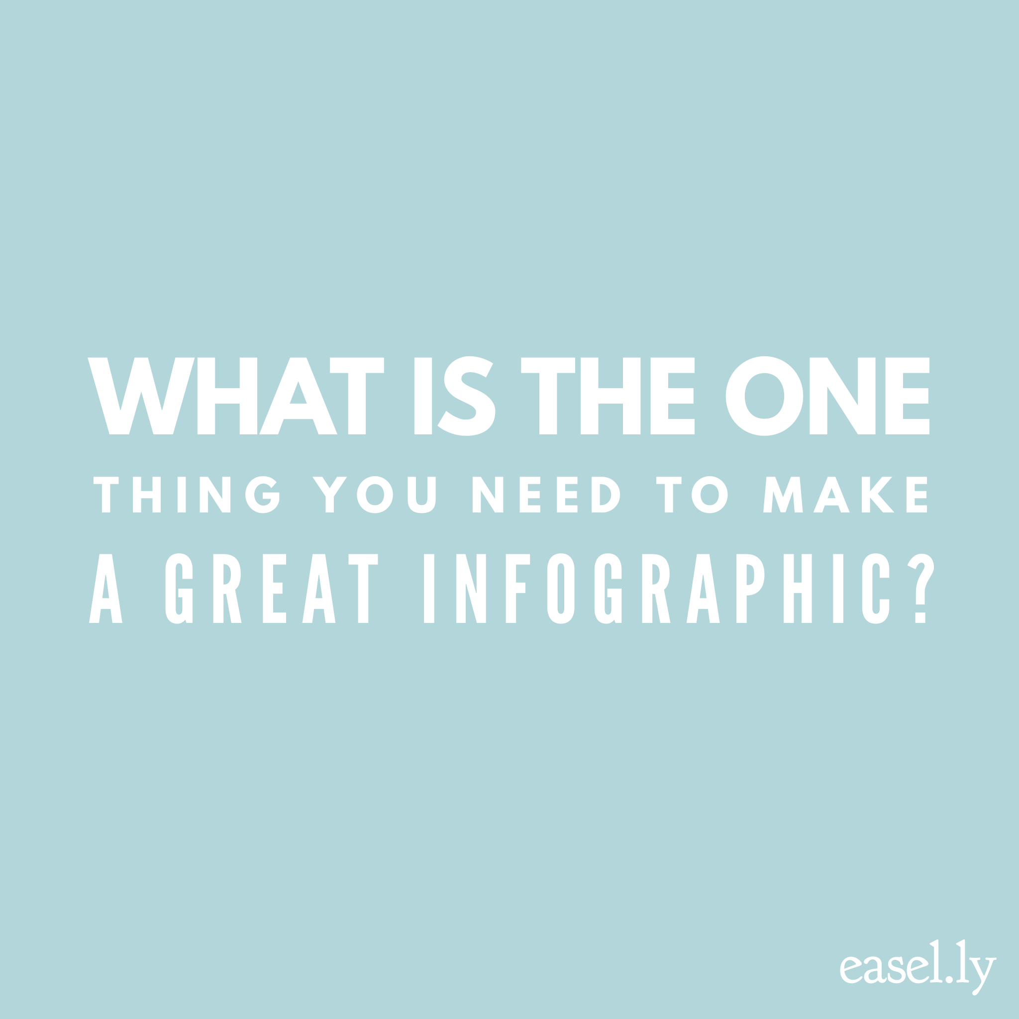 make great infographic