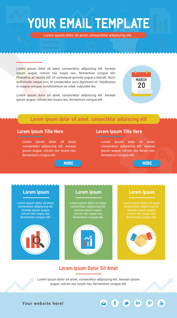 Infographic email template