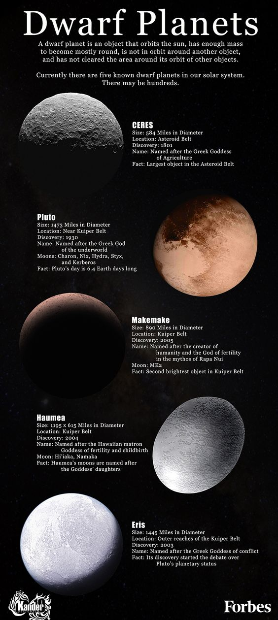 Dwarf Planets infographic - Simple Infographic Maker Tool by