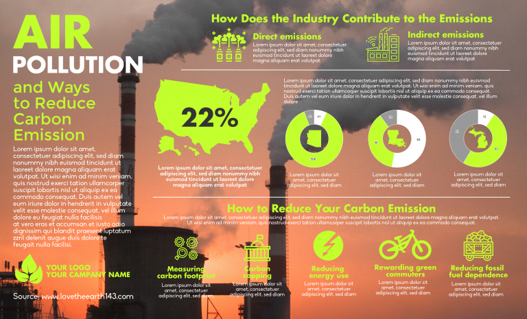 Air Pollution Infographic Template