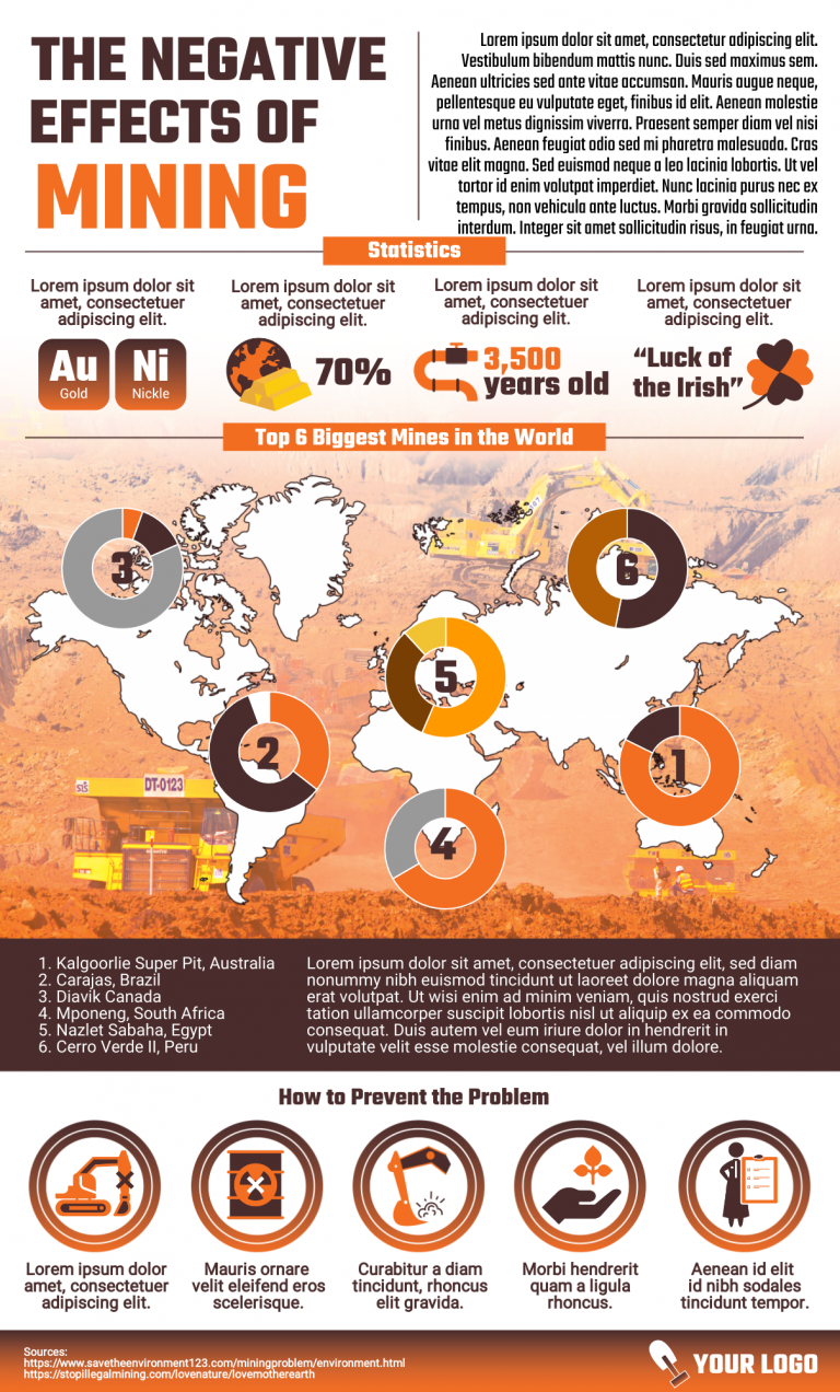 Mining infographic template