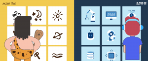 using pictograms in infographics header