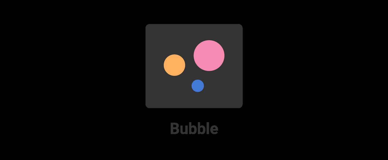 Bubble chart icon