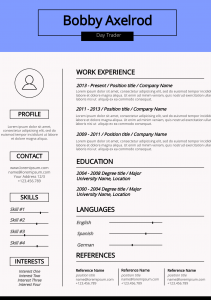 Basic Infographic Resume Template