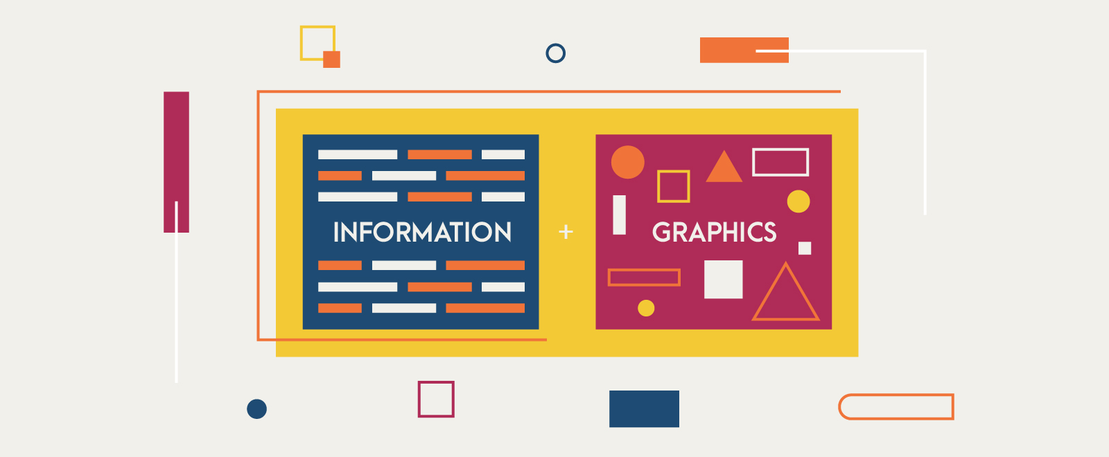 image of information and graphics combined into one super content