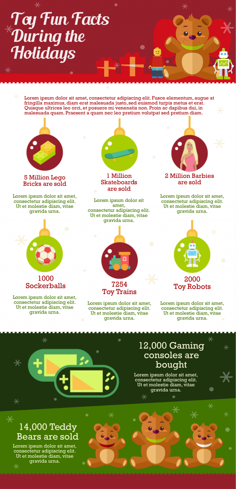 Holiday Fun Facts Infographic Template