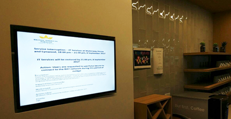 digital signage office example