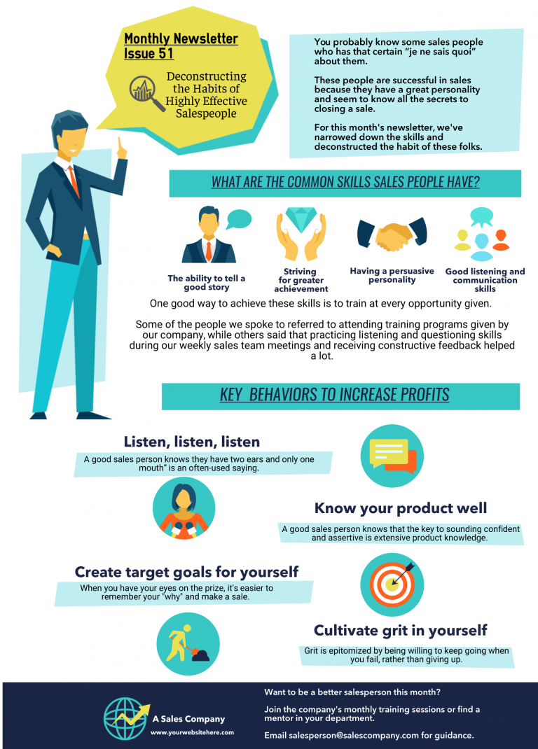 example of internal communications infographic newsletter