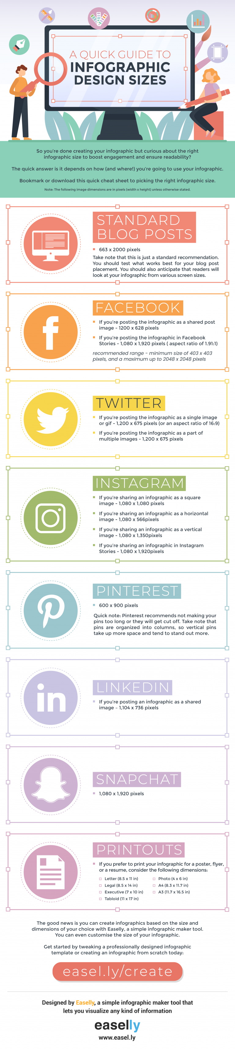 infographic size cheat sheet