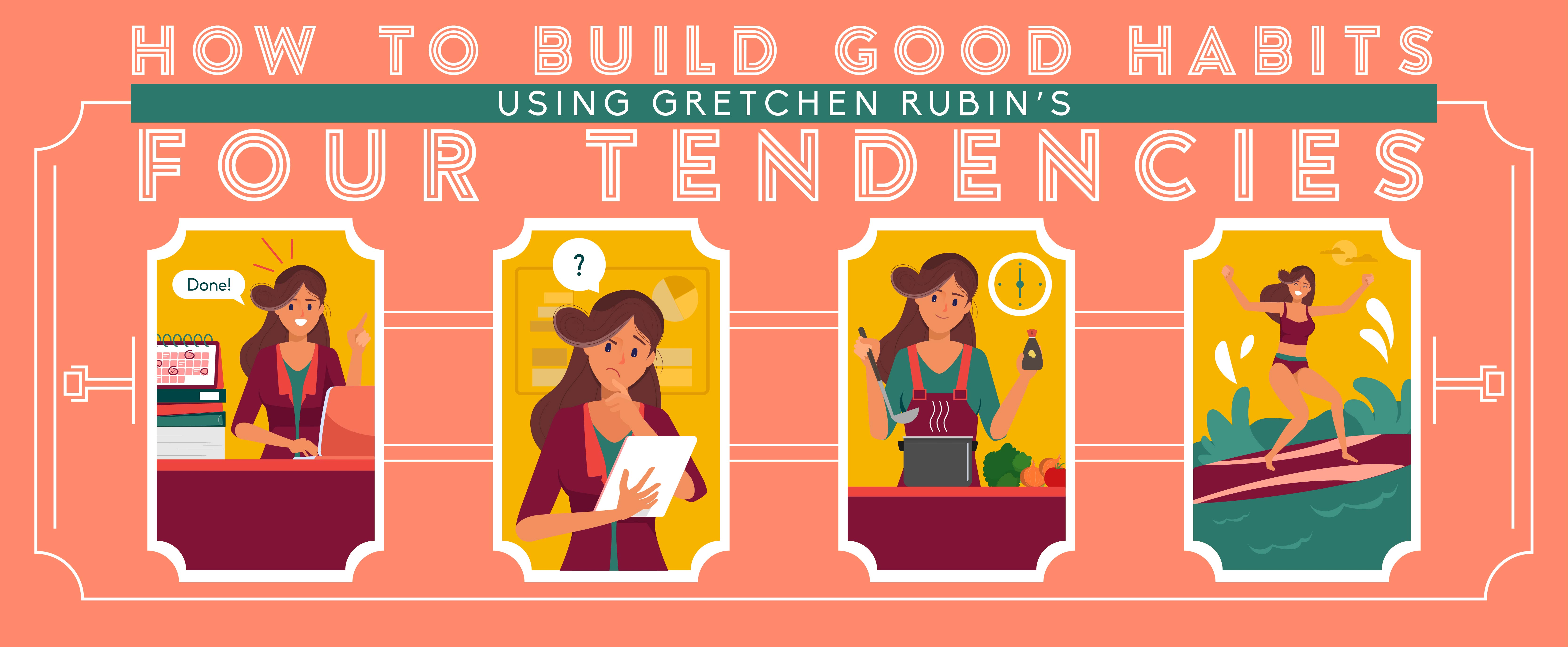illustration of The Four Tendencies by Gretchen Rubin