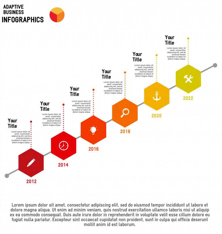 upwards timeline infographic template
