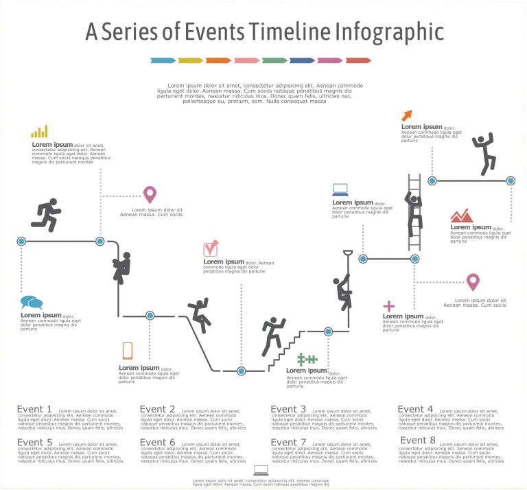 a series of events infographic template
