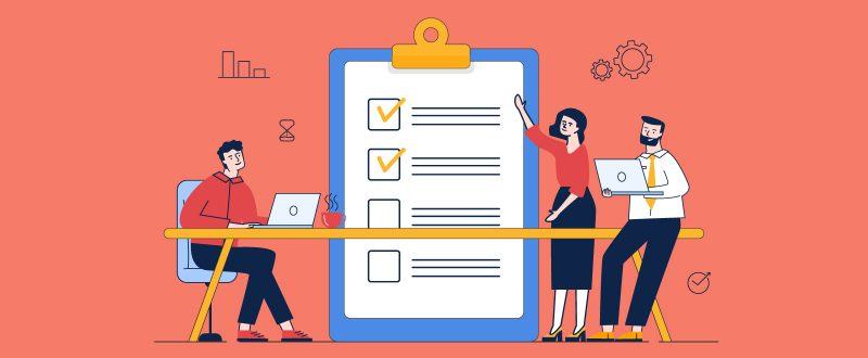 illustration of a checklist for effective visual branding