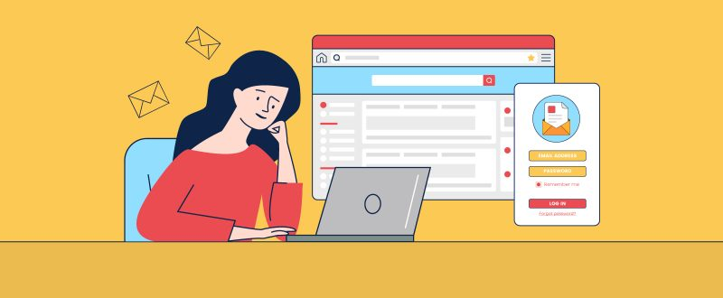illustration of a marketer creating gated content for lead generation