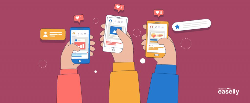 illustration of infographics getting high engagement rates on instagram