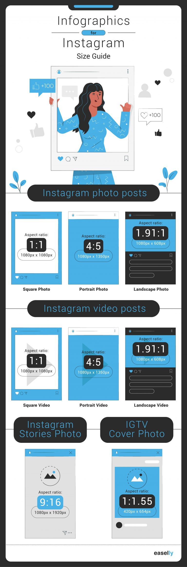 infographics for instagram size guide