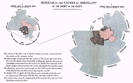 coxcomb chart by Florence Nightingale