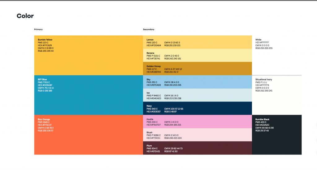 Peloton color scheme