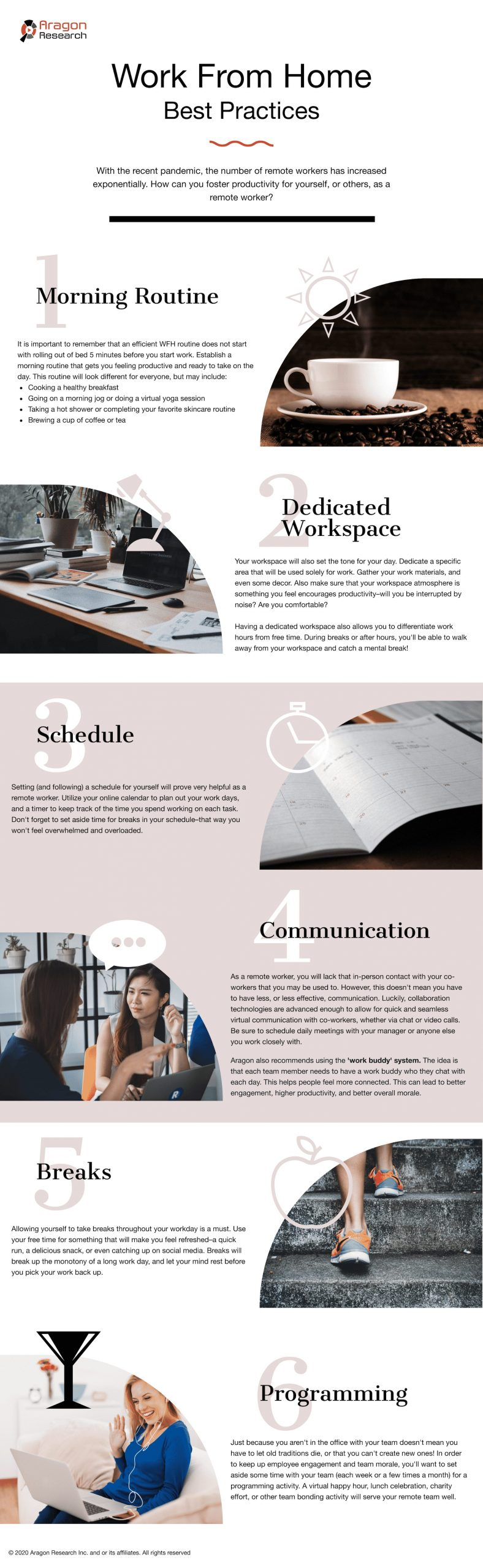 an infographic about working from home best practices