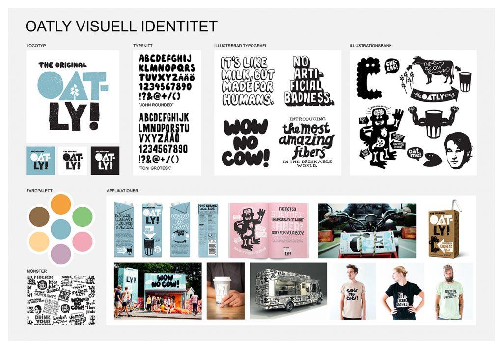 Oatly visual brand identity