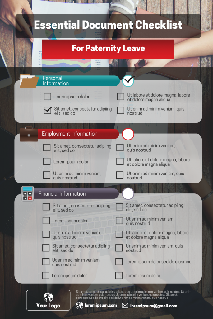 workplace checklist infographic template