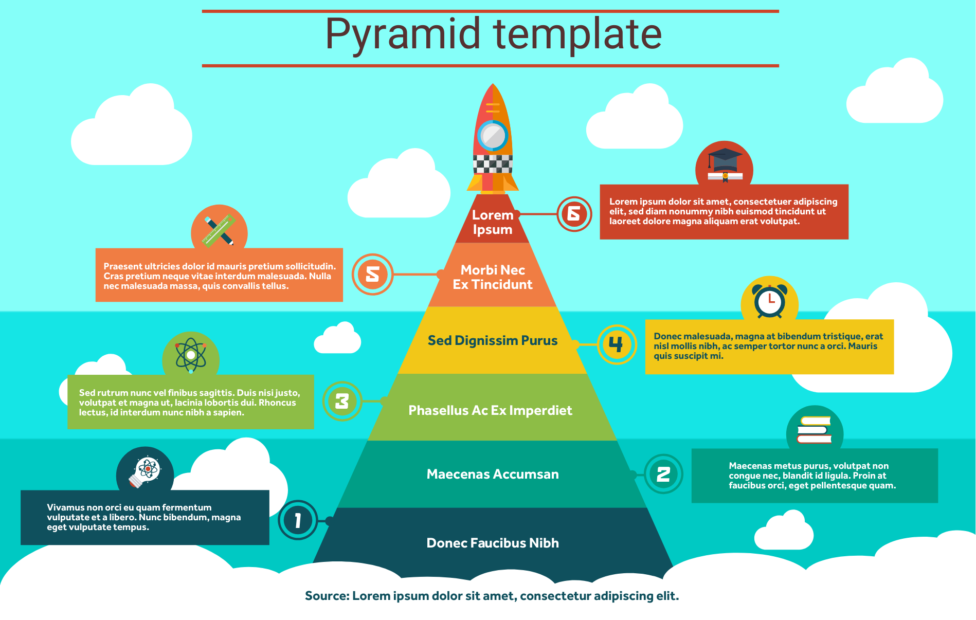 A pyramid infographic template