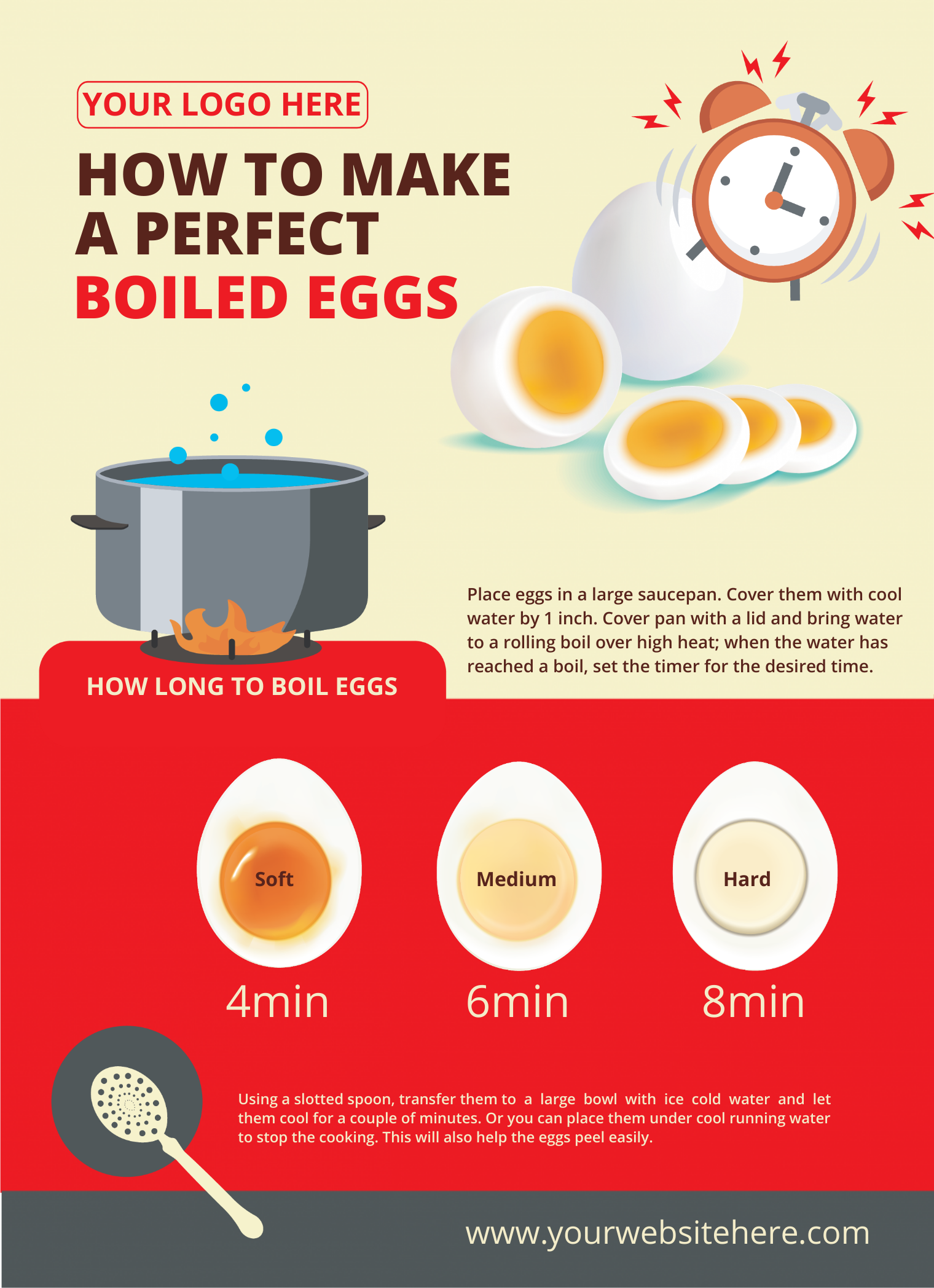 an infographic about how to make boiled eggs