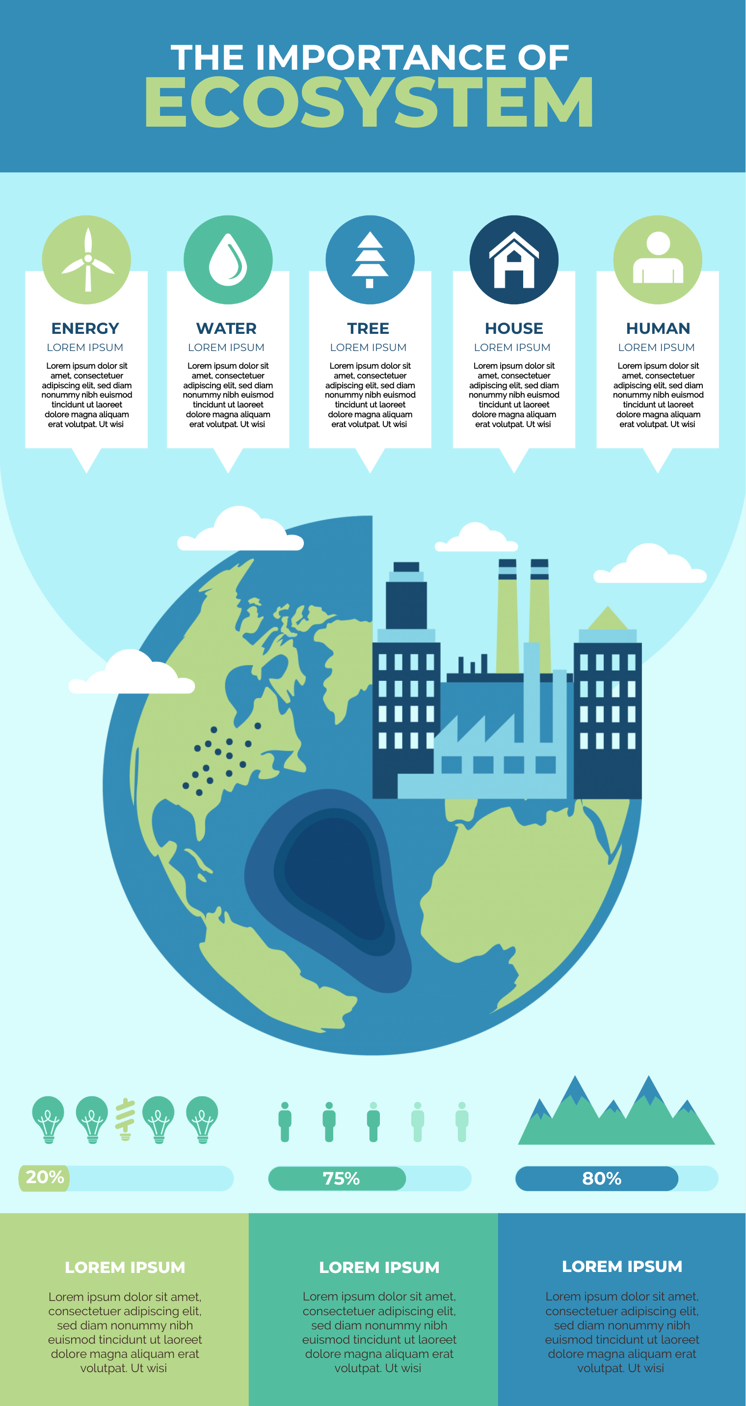 An infographic about ecosystems