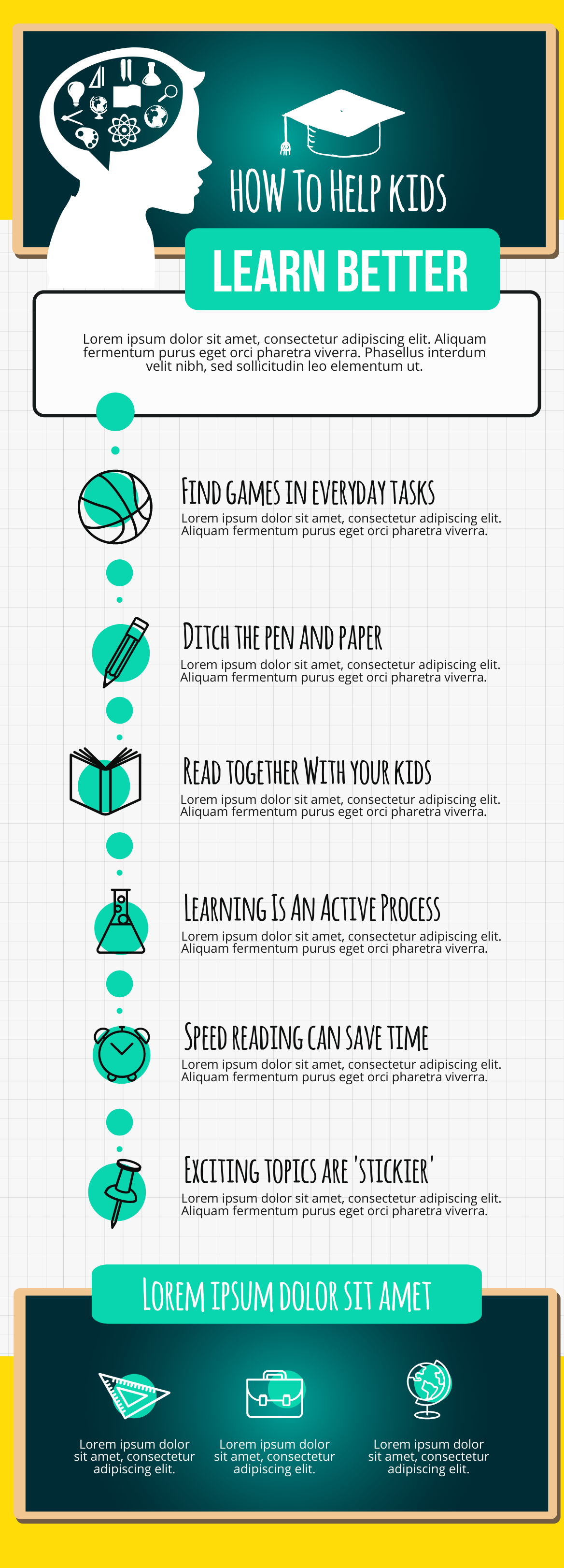 an infographic about helping kids learn better