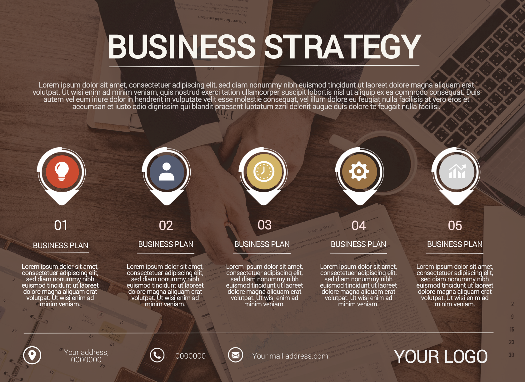 Business strategic infographic template