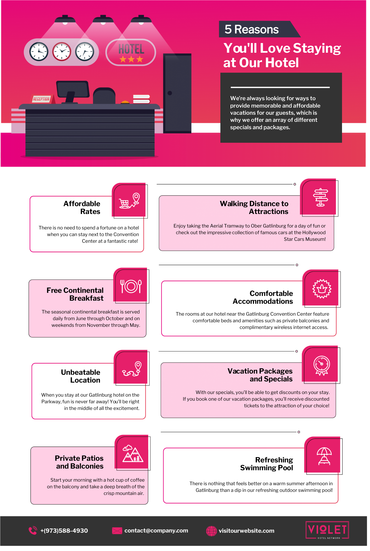 Hotel infographic template
