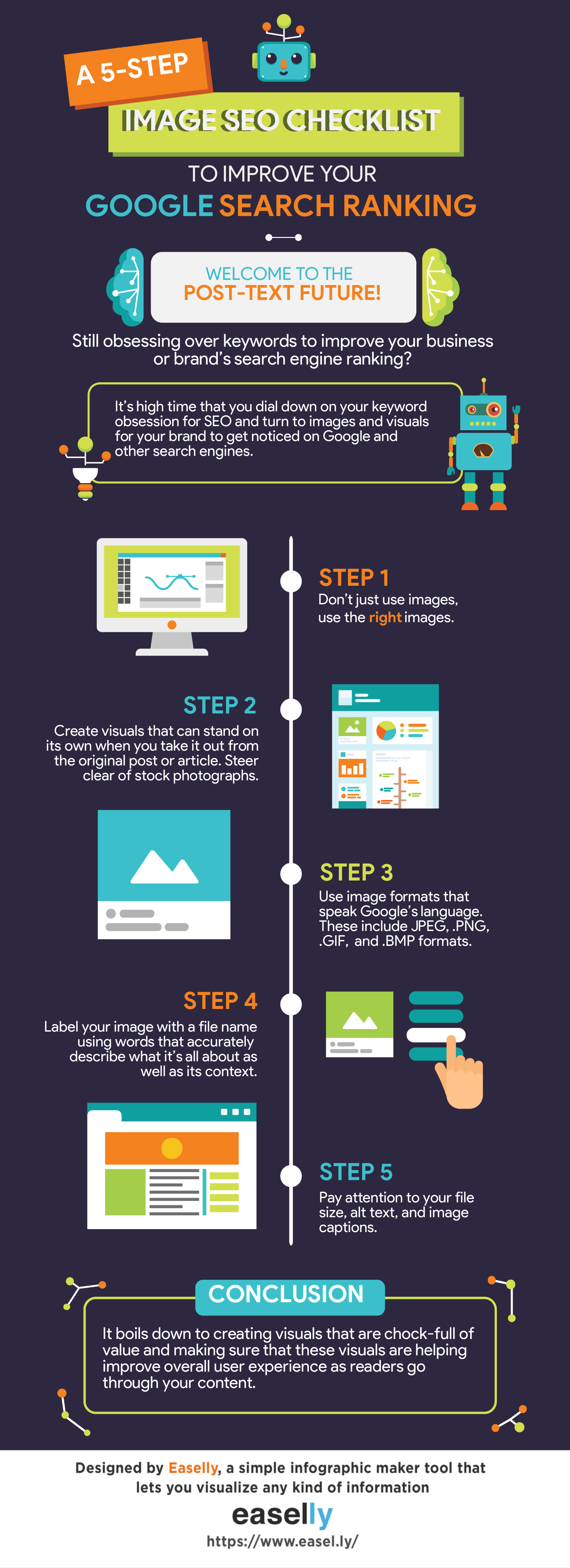 Image optimization infographic template
