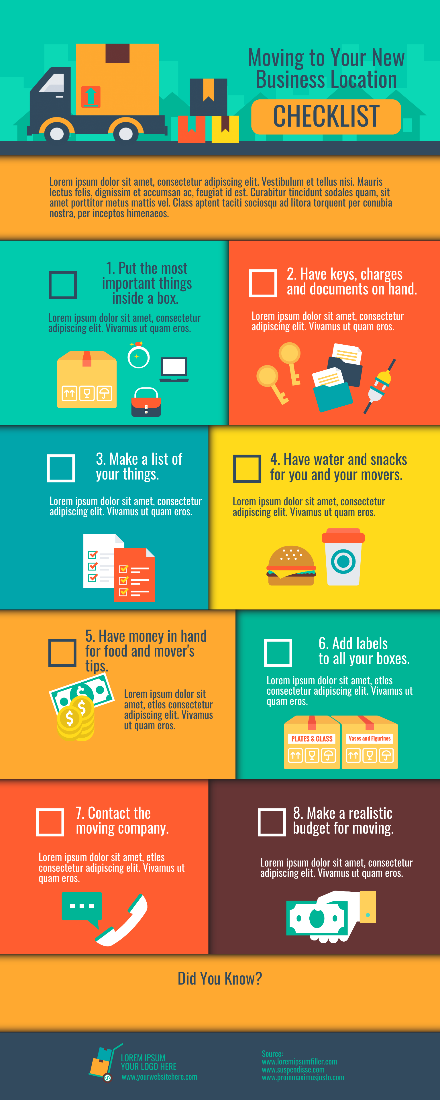 Business checklist infographic template