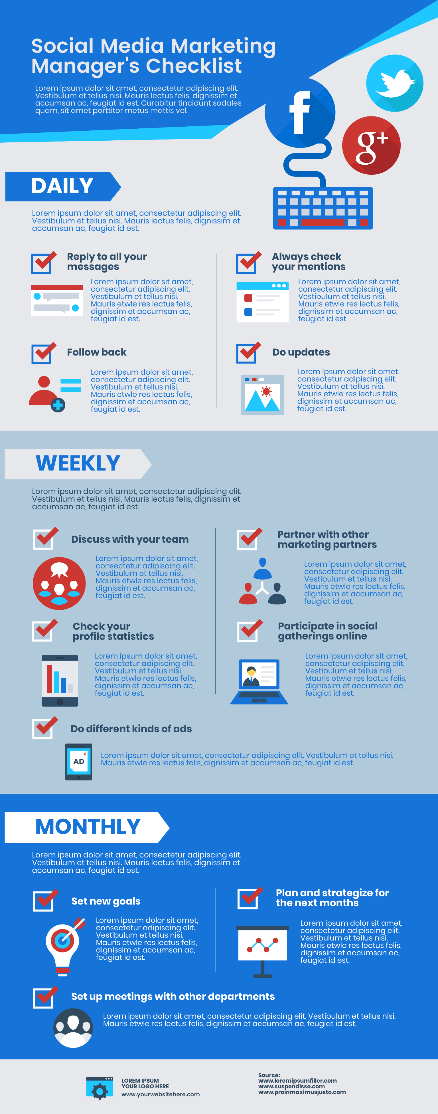 Social media marketing infographic template