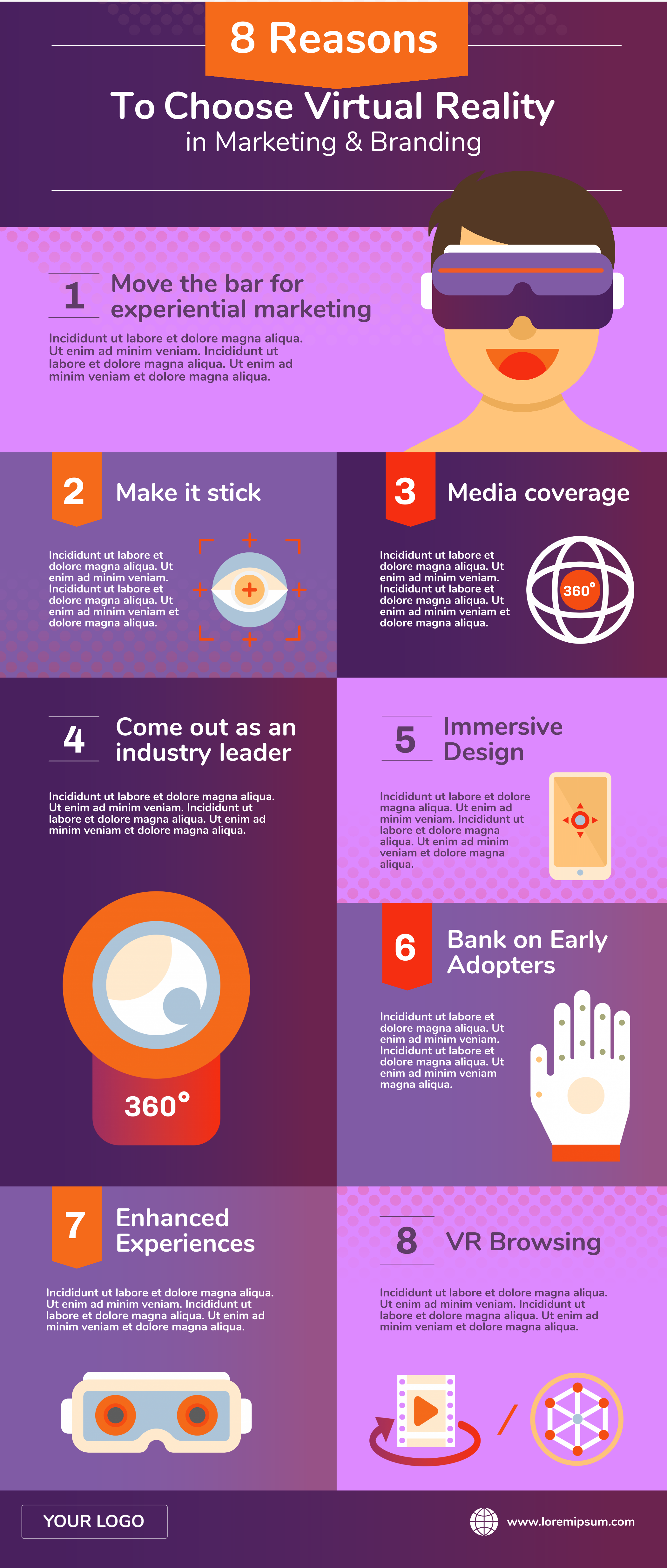 Virtual reality infographic template