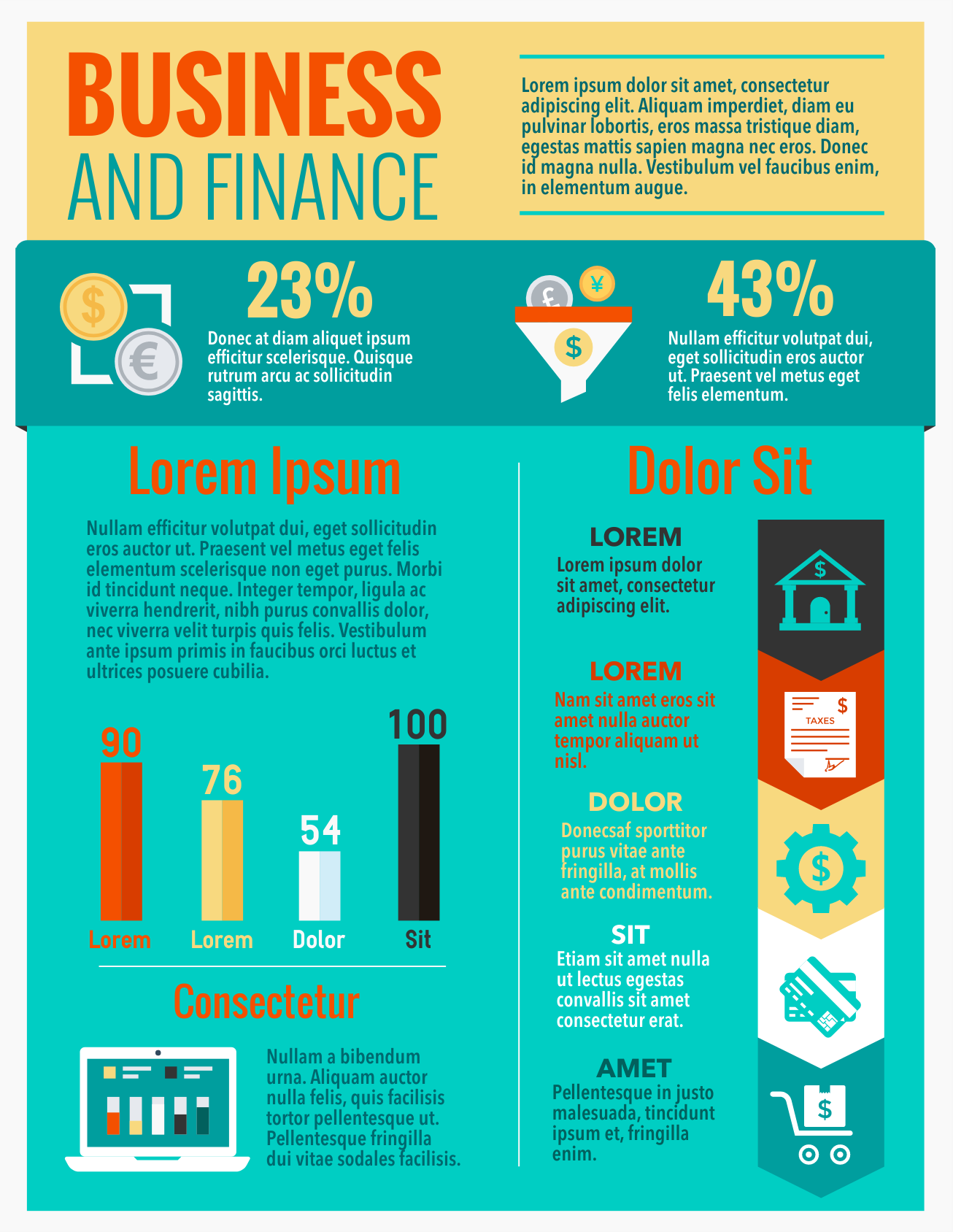 Business finance infographic template