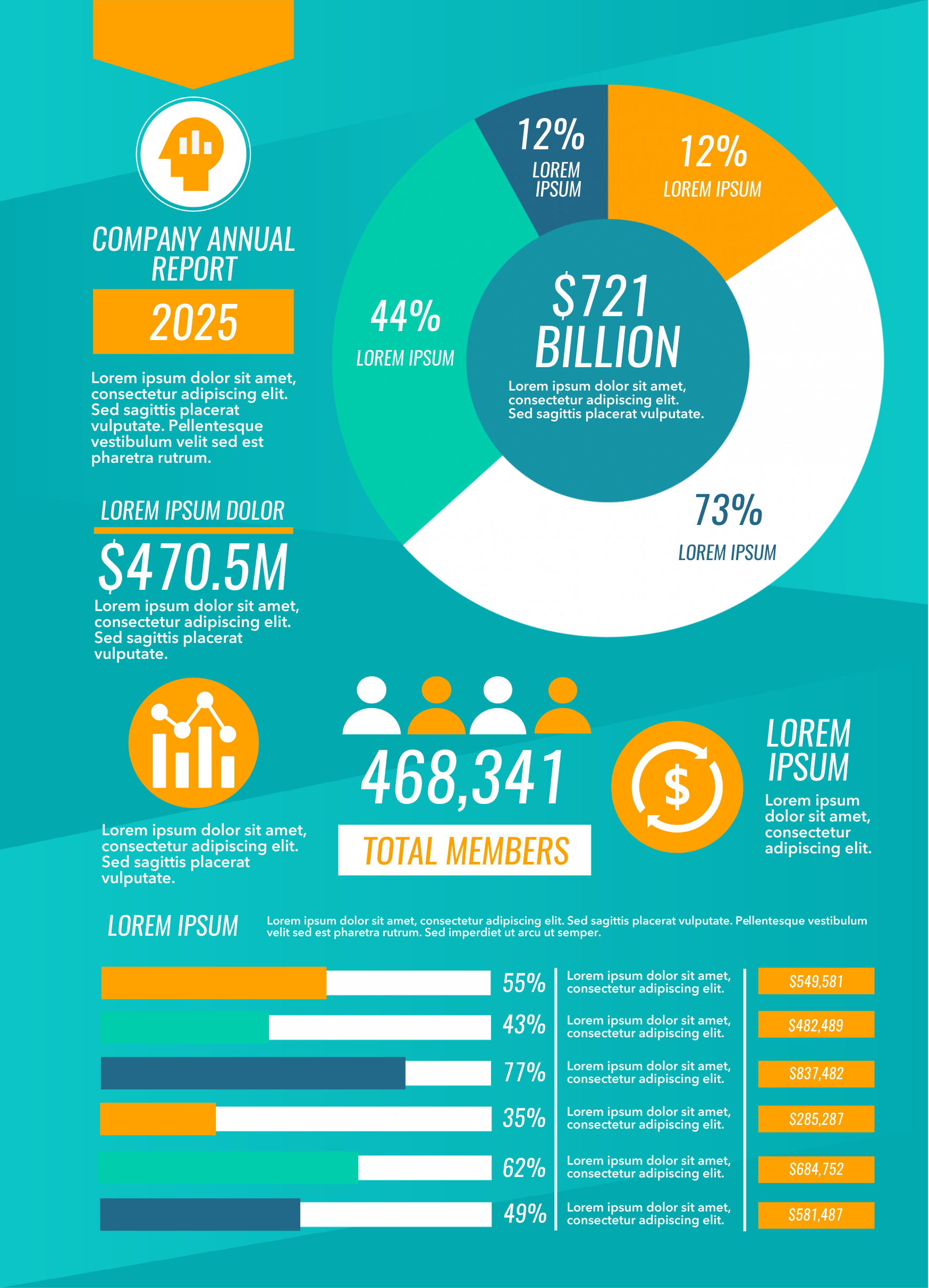 Company annual report infographic