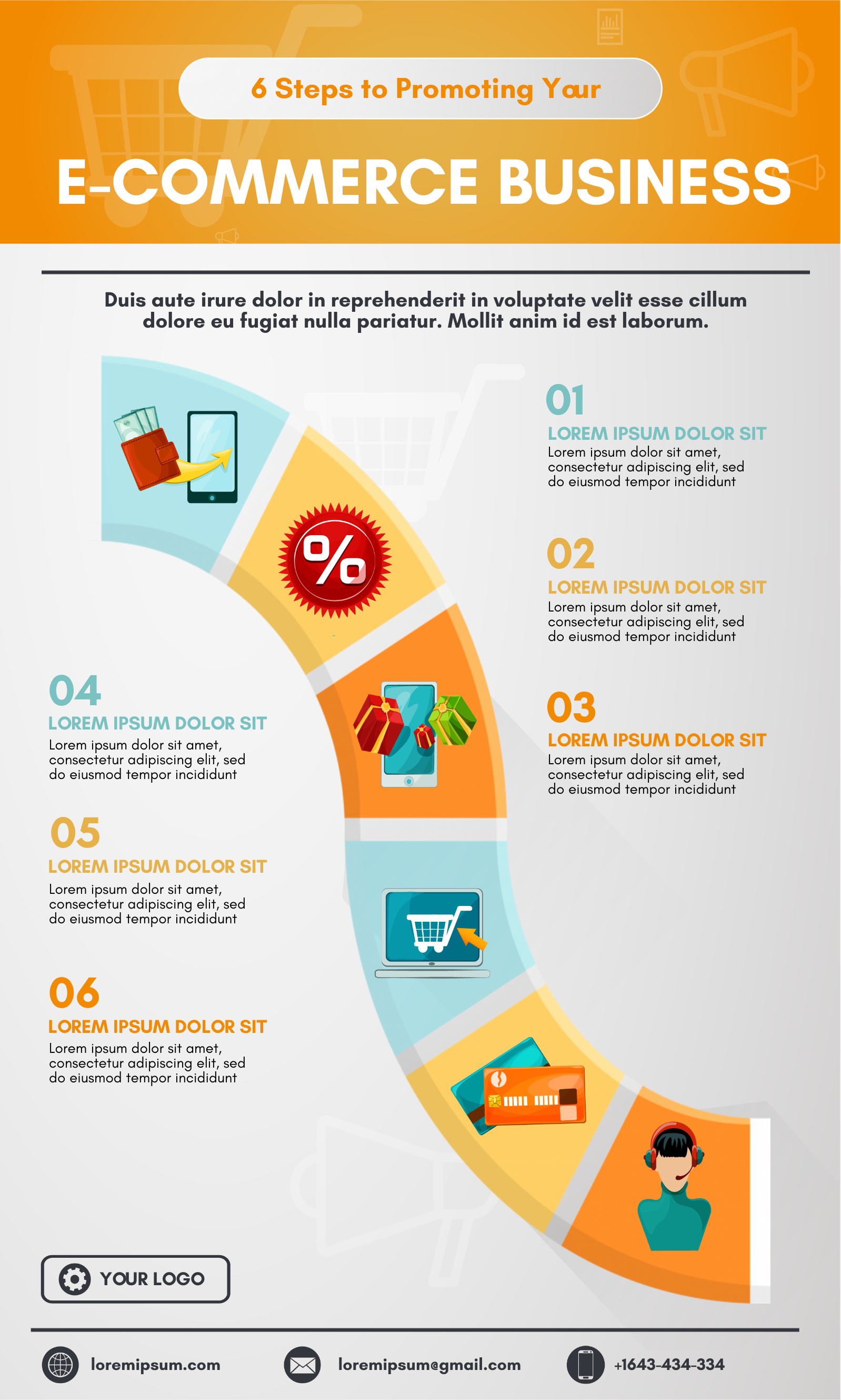 ecommerce business infographic template