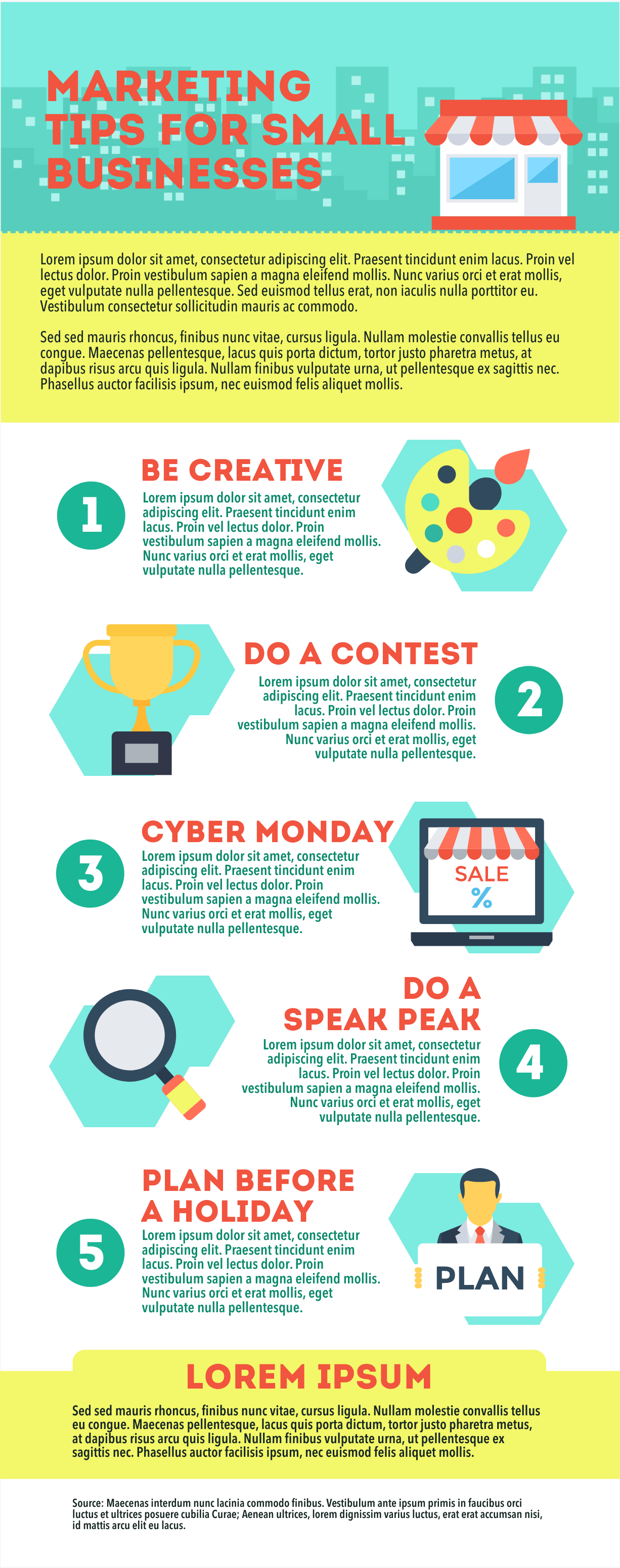 Small business marketing infographic template