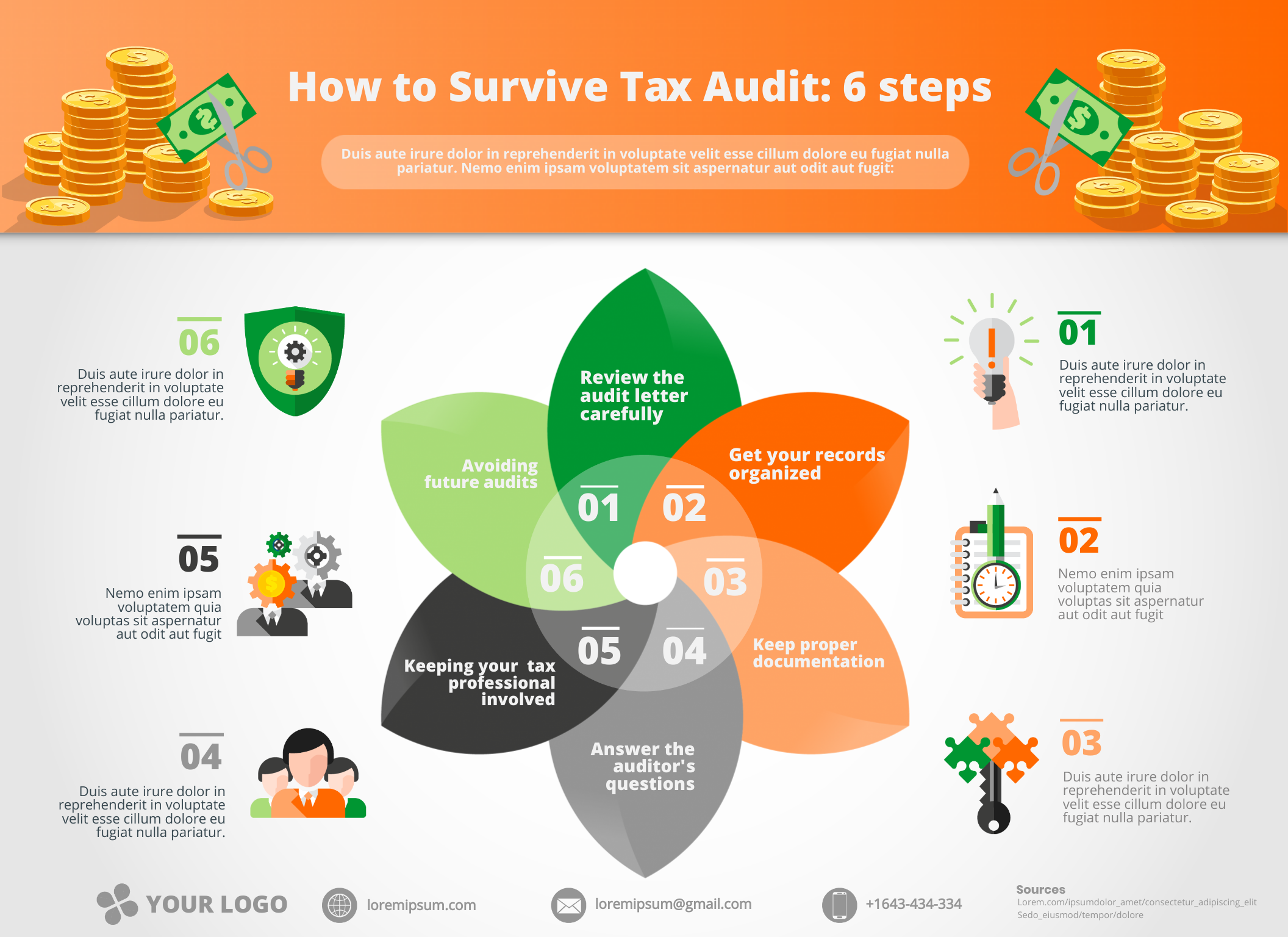 Tax audit infographic