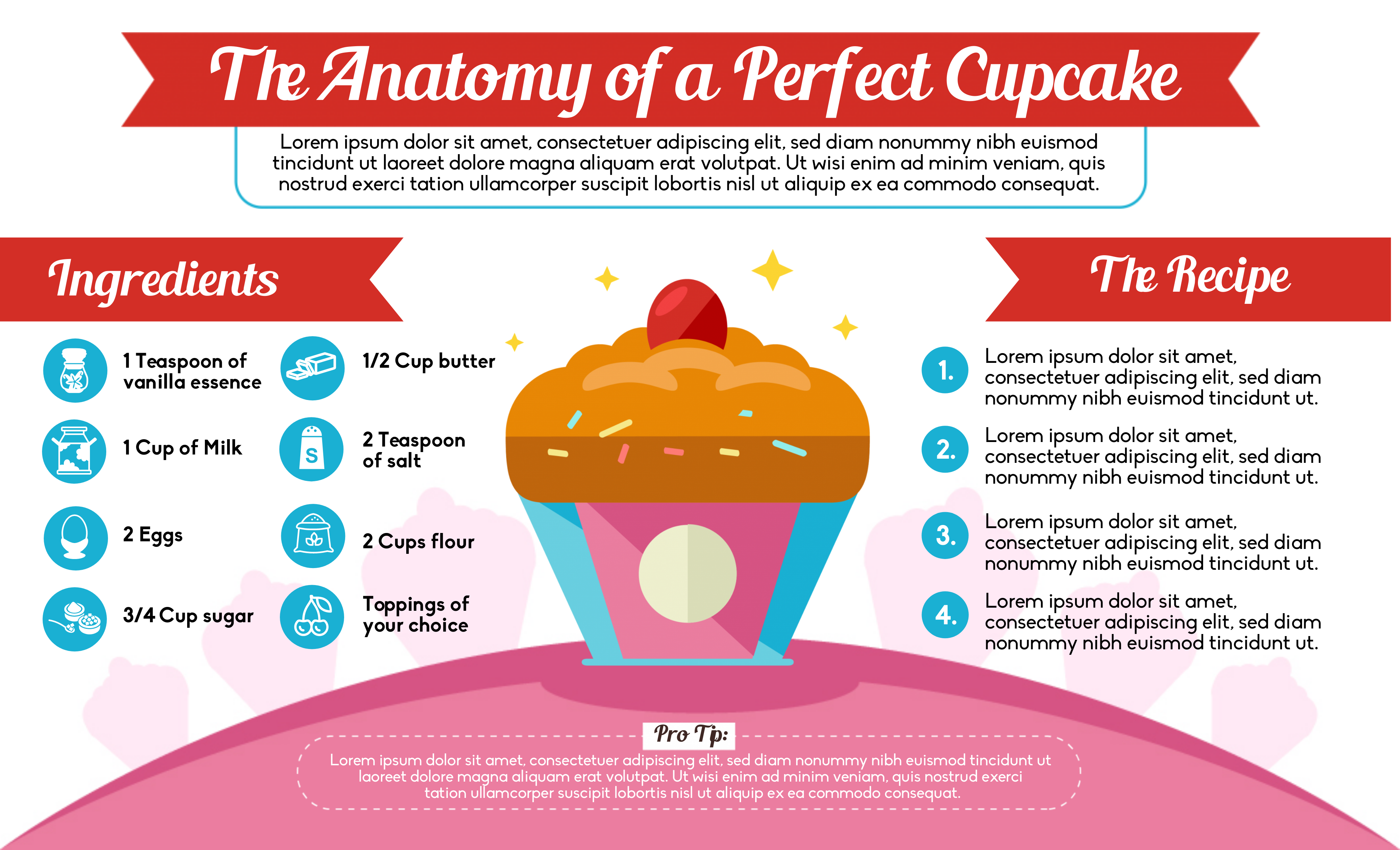 cupcake infographic template.