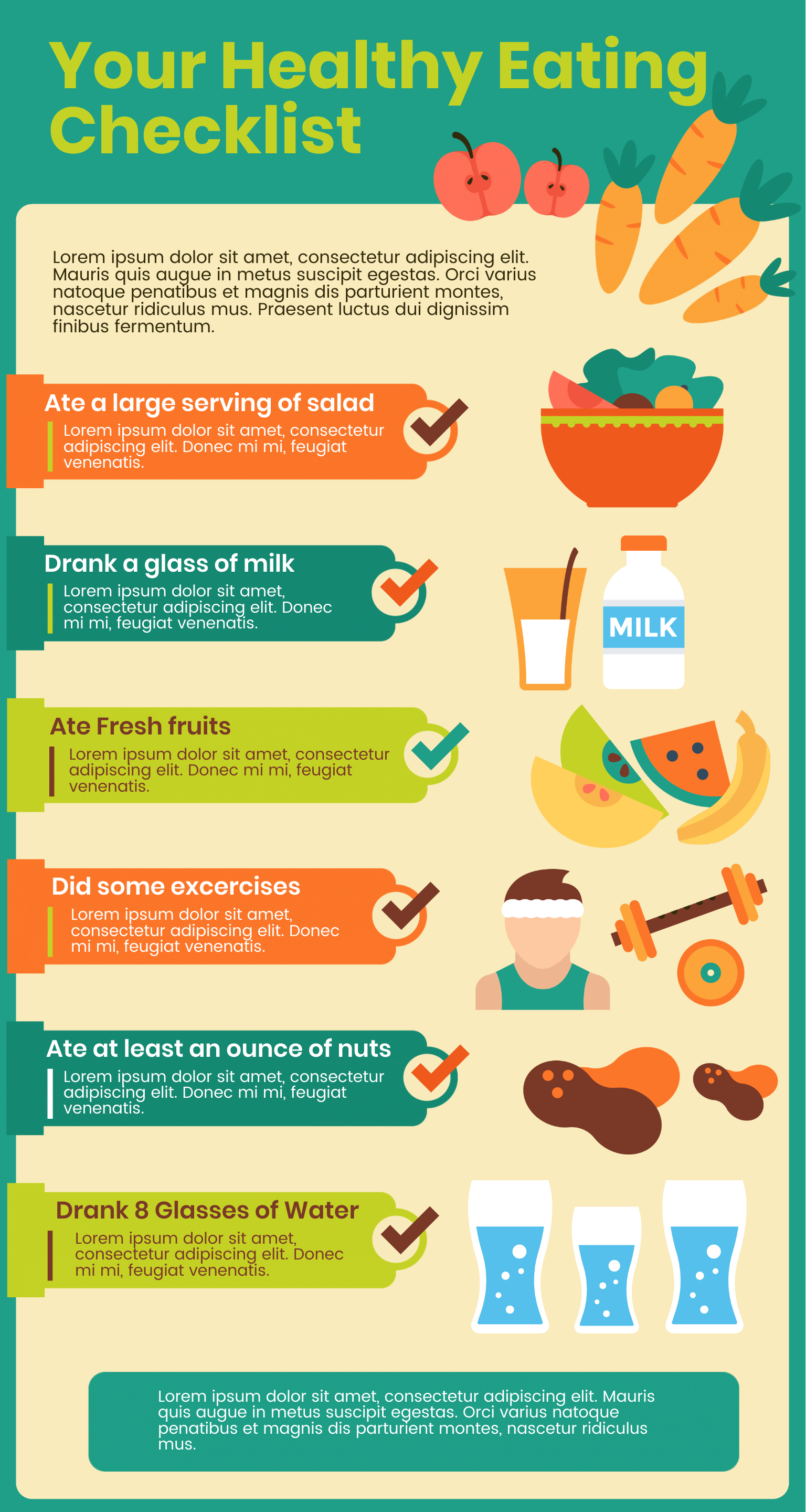 an infographic checklist for healthy eating.