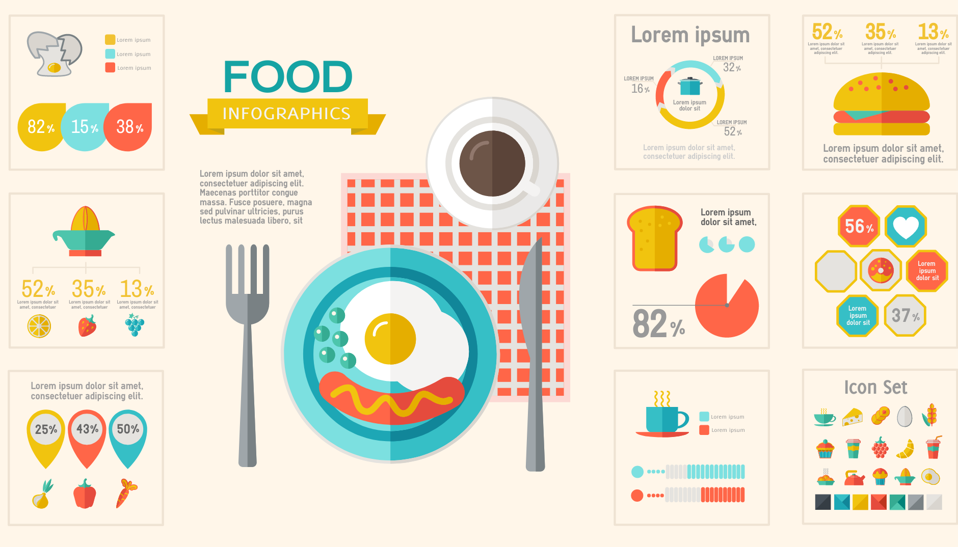 infographic about food facts.