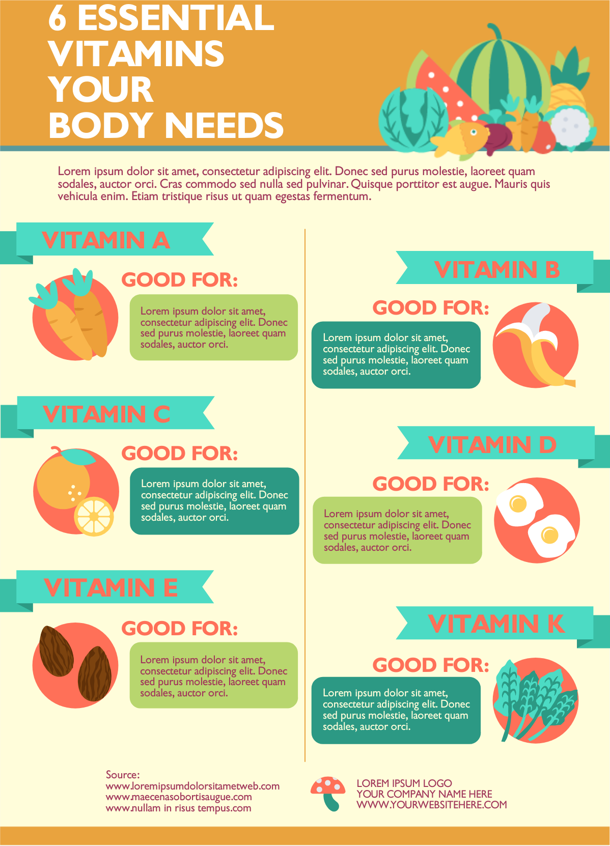 infographic about vitamins.